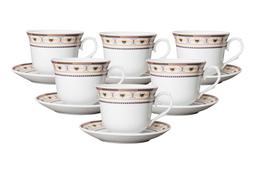 Serwis kawowy, herbaciany filiżanki 250 ml 12/6 - mix wzorów