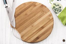 Deska kuchenna bambusowa okrągła 38 cm