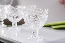 Komplet 6 pucharków szklanych