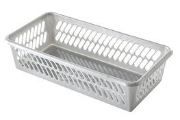 PLAST TEAM K-1 Koszyk 20 x 10 x 4.9 cm srebrny