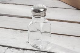 PASABAHCE Przyprawnik szklany, solniczka lub pieprzniczka