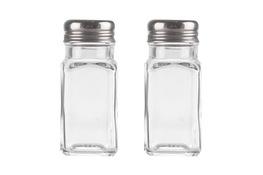 Przyprawniki szklane z metalowym sitkiem 2 szt