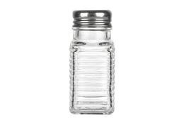 Przyprawnik szklany z metalowym sitkiem