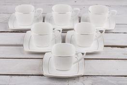 VERONI PIAZZO Serwis kawowy, herbaciany 12/6 filiżanki 200 ml