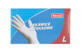 Rękawice lateksowe lekko pudrowane 100 sztuk rozmiar L