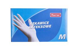 Rękawice lateksowe lekko pudrowane 100 sztuk rozmiar M