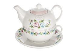 VERONI Zestaw do herbaty Marina 3 elementy