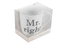 Kubek ceramiczny 400 ml z nadrukiem MR. RIGHT