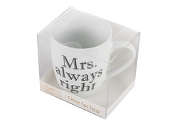Kubek ceramiczny 400 ml z nadrukiem MRS. ALWAYS RIGHT