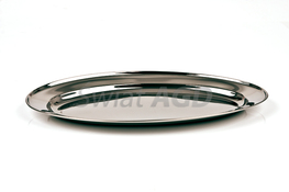 Taca, półmisek owalny stalowy 40 x 25.5 cm