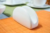 Serwetnik porcelanowy biały