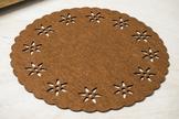 Mata filcowa okrągła 30 cm brązowa