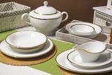 BGH PORCELANA BOGUCICE Serwis obiadowy 25/6 Victoria Gold
