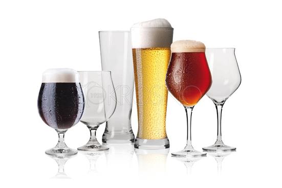KROSNO Szklanki, pokale do piwa PIWA KONESERA 6 el. dla 2 osób