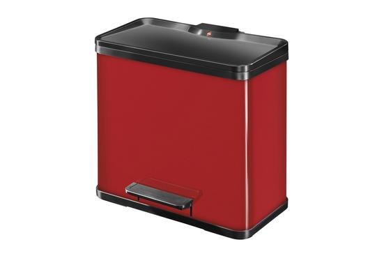 Hailo Duo Plus kosz do segregacji śmieci L 19+11 L czerwony
