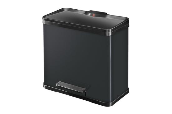 Hailo Duo Plus kosz do segregacji śmieci L 19+11 L czarny