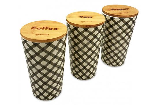 Kassel pojemniki kuchenne Kawa, Herbata, Cukier zestaw 3 sztuk