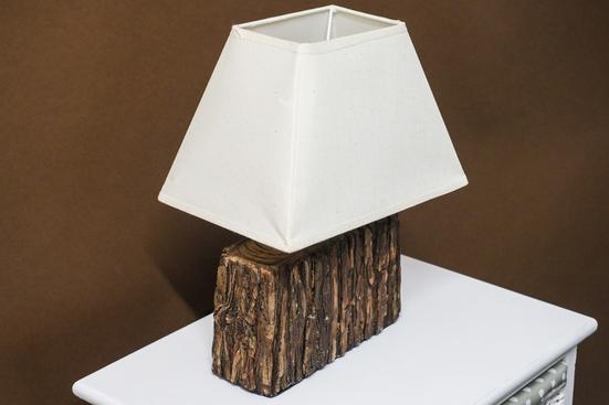 Lampka nocna kremowa h - 29 cm