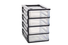 HEGA Regał plastikowy z 4 szufladami