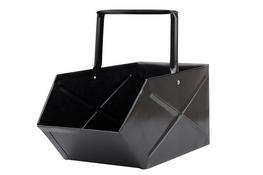 TARMEX Węglarka metalowa emaliowana czarna