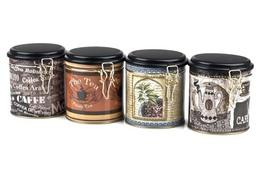 Puszka metalowa na herbatę - mix wzorów
