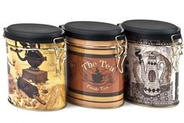 Puszka metalowa na kawę, herbatę - mix wzorów
