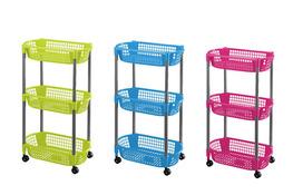 HEGA Regał, wózek 3-poziomowy - mix kolorów