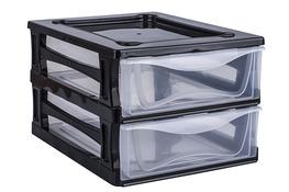 HEGA Regał plastikowy z 2 szufladami