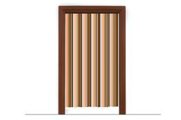 Zasłona drzwiowa z folii 100 x 200 cm mix kolorów