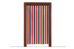 Zasłona drzwiowa z folii 80 x 200 cm - mix kolorów