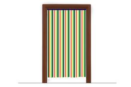 Zasłona drzwiowa z folii 120 x 200 cm - mix kolorów