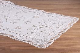 Bieżnik, obrus biały z PCV 130 x 65 cm - mix wzorów