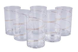 Szklanki do herbaty ZŁOTA SPIRALA 250 ml 6 sztuk