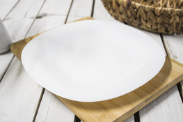 LUMINARC CARINE WHITE Talerz płytki 26.5 cm