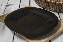 LUMINARC CARINE BLACK Talerz płytki 26 cm