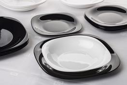 LUMINARC CARINE BLACK WHITE Serwis obiadowy 18/6