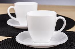 LUMINARC CARINE WHITE Serwis kawowy 220 ml 12/6