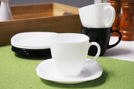 LUMINARC CARINE BLACK&WHITE  Serwis kawowy 220 ml 12/6