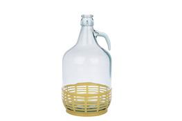 BIOWIN DAMA Gąsior, balon do wina 5 L w koszu plastikowym