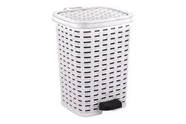 KATEX RATTAN Kosz na śmieci z pedałem 26 L biały