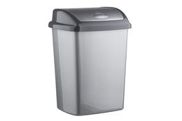 CURVER DOMINIK Kosz na śmieci uchylny 25 L metalik