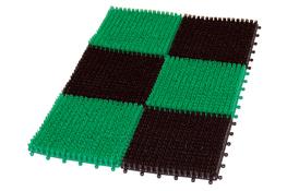 KRYSTYNKA Wycieraczka plastikowa TRAWKA 60 x 40 cm - mix kolorów