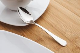 AMEFA BAGUETTE Łyżeczki do kawy połysk zestaw 6 sztuk