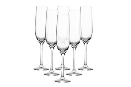BOHEMIA VIOLA Kieliszki do szampana 190 ml 6 sztuk