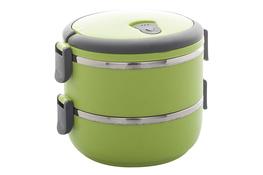 Menażka okrągła, pojemnik obiadowy 1.4 L 2 części - mix kolorów