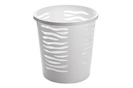 BRANQ ZEBRA Kosz na śmieci biurowy 10 L biały