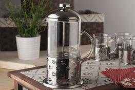 French press, zaparzacz do kawy i herbaty 1000 ml - mix wzorów