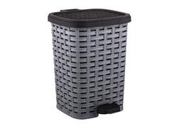 KATEX RATTAN Kosz na śmieci 6 L z pedałem szary