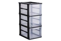 HEGA Regał plastikowy z 3 szufladami