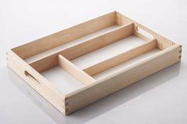 AAA Wkład do szuflady na sztućce 34 x 24.5 cm drewniany